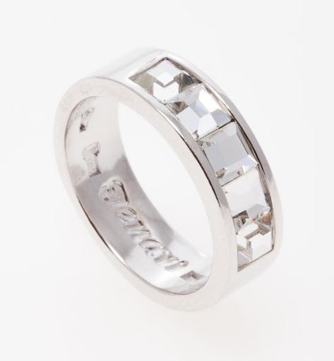 """Кольцо """"Нелио"""" с кристаллами Swarovski, покрытое родием (r846f000) - Andrew в Днепре"""