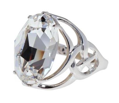 """Кольцо """"Солтан"""" с кристаллами Swarovski, покрытое родием (d983f000) - Andrew в Днепре"""