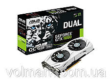 Видеокарта ASUS GTX1060 OC 6GB GDDR5 192bit DVI 2xHDMI 2xDP PCIe3 0 (DUAL GTX1060 O6G)