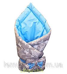 """Конверт-одеяло двухсторонний для новорожденных на выписку и в коляску на синтепоне Lari """"Цвет 3"""""""