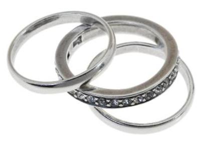 """Кольцо """"Игра"""" с кристаллами Swarovski, покрытое серебром (a6873000) - Andrew в Днепре"""