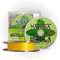 Шнур Natuna Micro X4 Braid 150m./0.14mm./8.2kg. (Yellow)