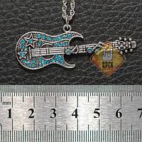 Кулон Гитара (Голубой цвет)