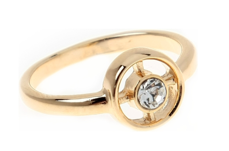 """Кольцо """"Ивало"""" с кристаллами Swarovski, покрытое золотом (e098p000) - Andrew в Днепре"""