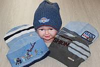Детские тонкие вязаные шапки оптом
