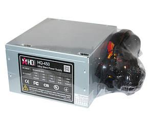 Блок питания HQ-Tech 450W, 120 mm, 20+4pin, 1x4pin, SATA х 3, Molex 5x4pin, 1х6p
