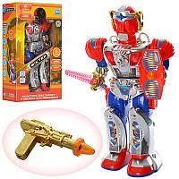 Робот Фіктер на батарейках, с оружием, ходит вперед, имитирует стрельбы, произносит две фразы