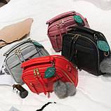 Мини сумочка с меховым брелком, фото 3