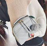 Мини сумочка с меховым брелком, фото 4