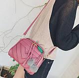 Мини сумочка с меховым брелком, фото 6