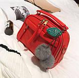 Мини сумочка с меховым брелком, фото 10