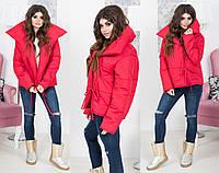 """Стильная короткая женская куртка 2153 """"Аляска Завязки"""" в расцветках"""