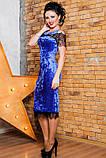 Нарядное женское платье  из мраморного велюра   42-56р, фото 2