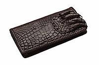 Портмоне из кожи крокодила Темно-коричневый (cw27)
