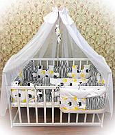 """Комплект постельного в детскую кроватку """"Пазл"""""""