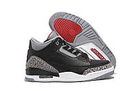 Женские кроссовки Air Jordan Retro 3 (Black/Red/Cement Grey), фото 1