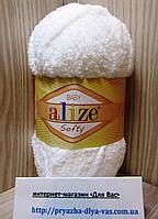 Детская пряжа (100%-микрополиэстер,50г/115м) Alize Baby Softy 450(жемчужный)