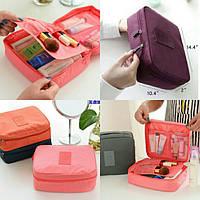 Дорожный органайзер для косметики Travel multi pouch(розовый)
