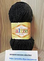 Детская пряжа (100%-микрополиэстер,50г/115м) Alize Baby Softy 60(чёрный)