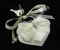 30928-01 Кружевной бант, свадебный замок кремовый, размер ~ 8,5 см x 7,5 см х 2 см