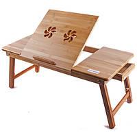 Складной столик для ноутбука деревянный Т13