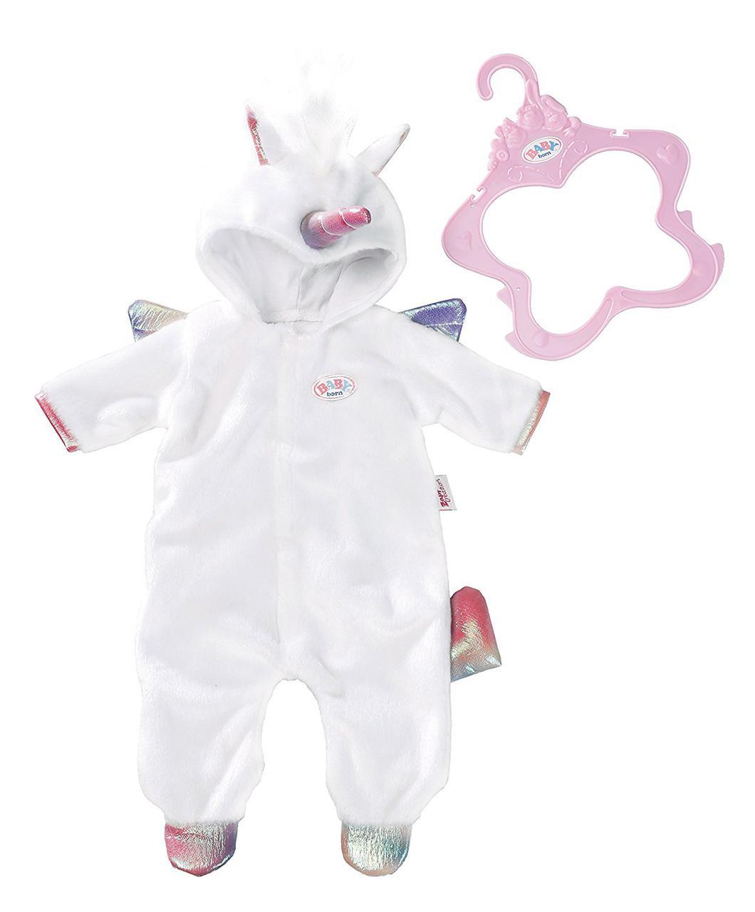 Одежда кукол Беби Борн костюм единорога Baby Born Zapf Creation 824955
