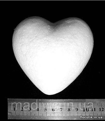 Сердце из пенопласта 9,5 х 9,5 см.