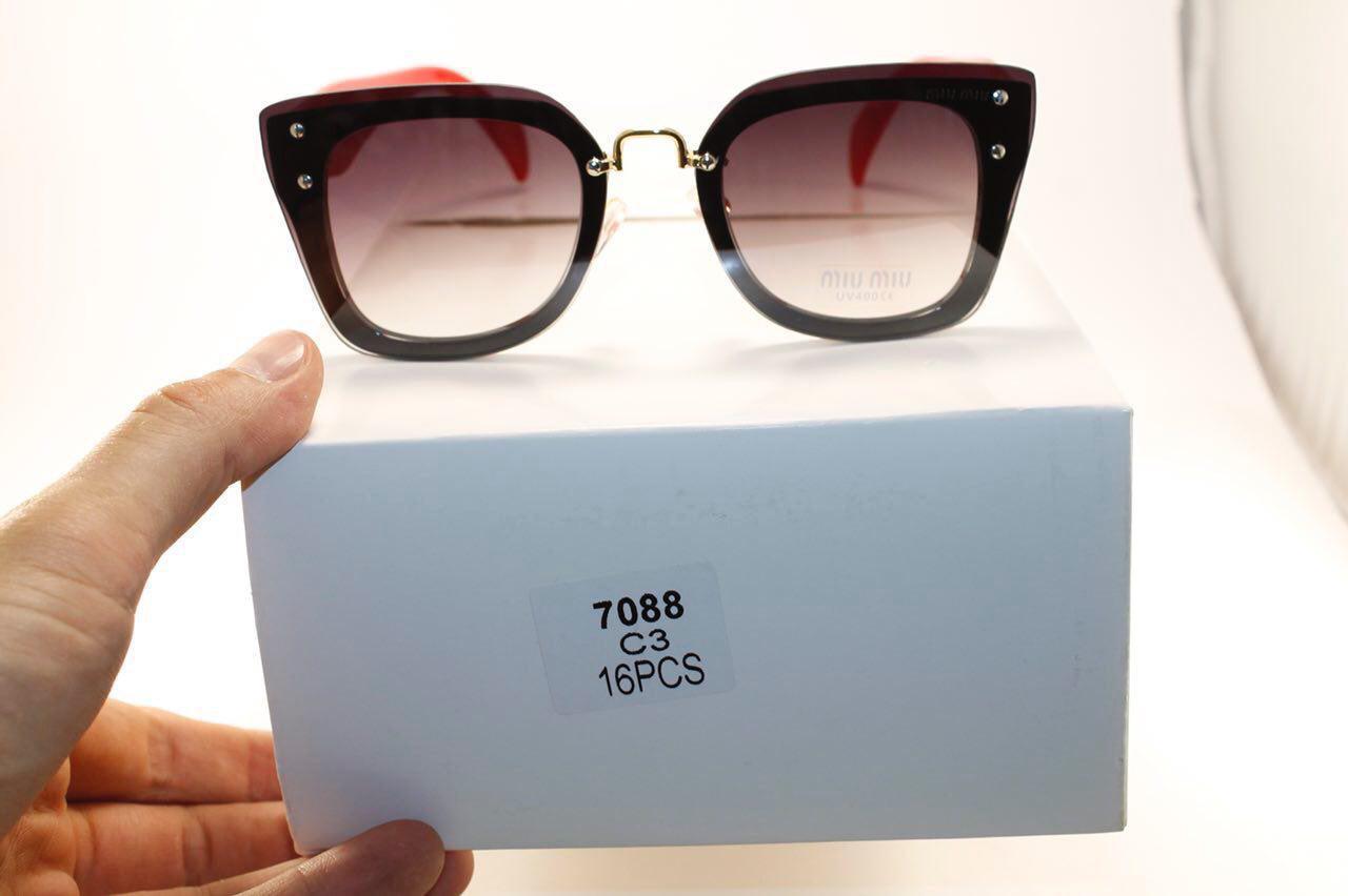 Солнце защитные очки в стиле Miu Miu (женские)