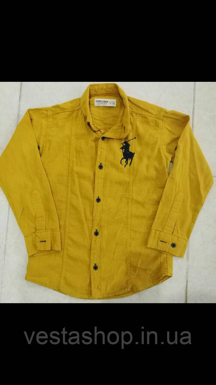 ced780b3932c Желтая рубашка для мальчика