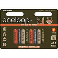 Аккумулятор PANASONIC Eneloop Expedition Colors AAA 750mAh NI-MH * 8 (BK-4MCCE/8EE)