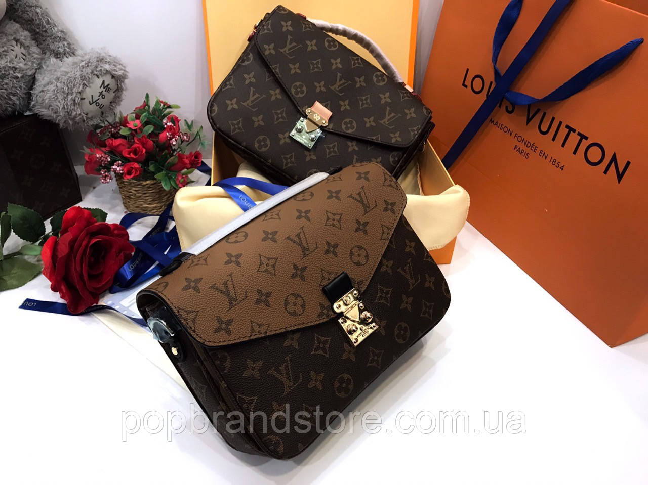 Женская сумочка LOUIS VUITTON Pochette Metis LUX нат. кожа (реплика ... 684b6f1dd81