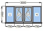 Балкон  3000 х 1400
