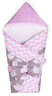 Конверт-одеяло Babyroom Розовый - серый (совы)