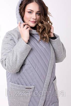 fe0608f1b5a6 Женское пальто комбинированное, большого размера 48,54 р, синий