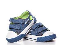 Детские кеды оптом. SJ7602Blue-Green (15/5 пар 21-25)