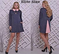 Стильна сукня з трикотажу ангора + коттон