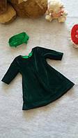 Платье  для девочки из бархата Сукня для дівчинки з оксамиту з підкладкою