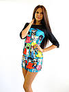 Мини-платье с рукавом
