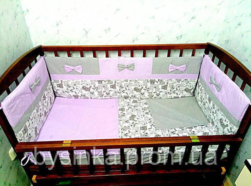 Постельное в кроватку новорожденного из 6 ед.(без кармана и балдахина). Бортики (40 см) - Магазин детских товаров «Моя Бусинка» в Киеве