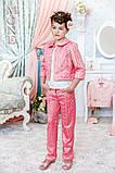 Детская одежда, брюки для девочки (персик) ТМ МОНЕ р-р 110,116, фото 3
