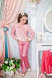Детская одежда, брюки для девочки (персик) ТМ МОНЕ р-р 110,116, фото 4