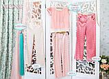 Детская одежда, брюки для девочки (персик) ТМ МОНЕ р-р 110,116, фото 2