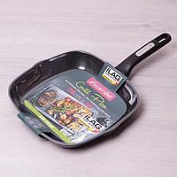 Сковорода-гриль Kamille 28*28*4 см с покрытием ILAG из алюминия без крышки