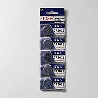 Батарейка литиевая T&E CR2025