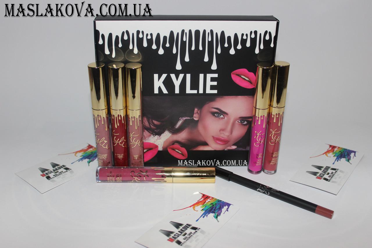 Набор Матовая жидкая помада + карандаш Kylie