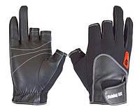 Перчатка спиннингиста Fishing ROI WK-11 black  (c 2 пальц.)