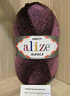 Фантазийная пряжа Alize RAINBOW (350 г/875 м, 15%-альпака, 15%-шерсть, 10%-полиэстер, 60%-акрил) 1019