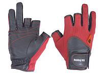 Перчатка спиннингиста Fishing ROI WK-11 red  (c 2 пальц.)