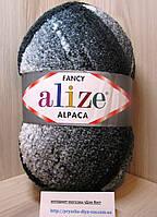 Фантазийная пряжа Alize RAINBOW (350 г/875 м, 15%-альпака, 15%-шерсть, 10%-полиэстер, 60%-акрил) 1001