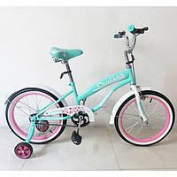 Детский Велосипед TILLY CRUISER T-21832 Turquoise+Pink,колеса 18 дюймов
